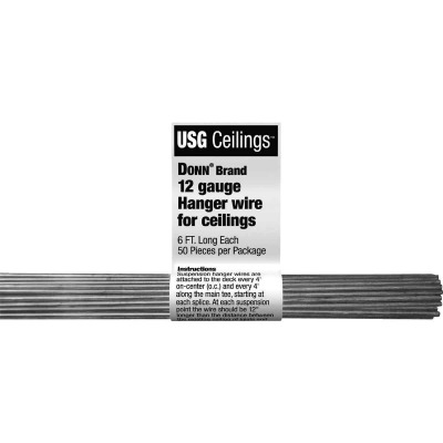 Donn 6 Ft. 12 Ga. Ceiling Tile Grid Hanger Wire (50-Count)