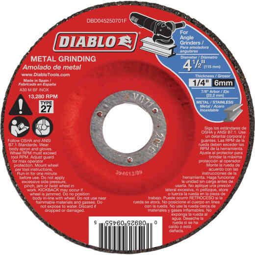 Diablo Type 27 4-1/2 In. x 1/4 In. x 7/8 In. Metal Grinding Cut-Off Wheel