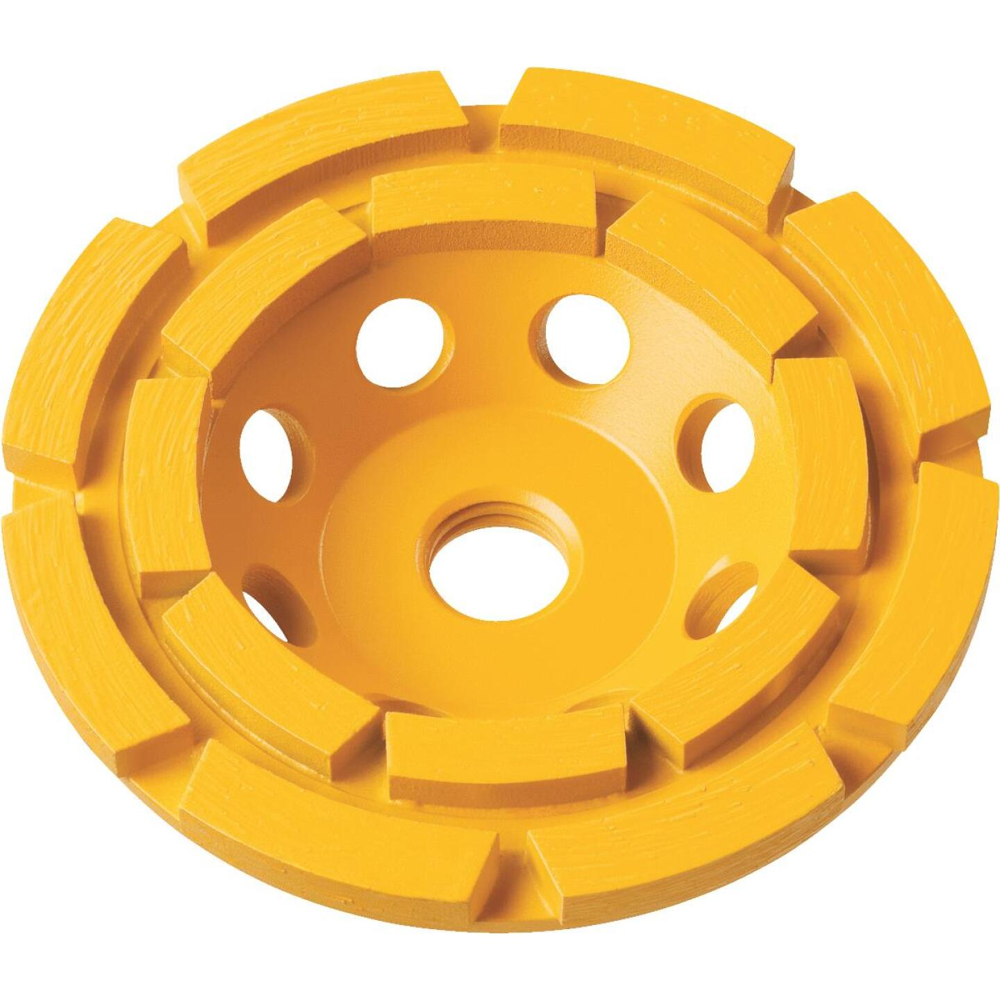 DeWalt 4 In. Double Row Diamond Cup Wheel Image 1