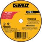 DeWalt HP Type 1 4 In. x 1/16 In. x 1/4 In. Metal/Stainless Cut-Off Wheel Image 1