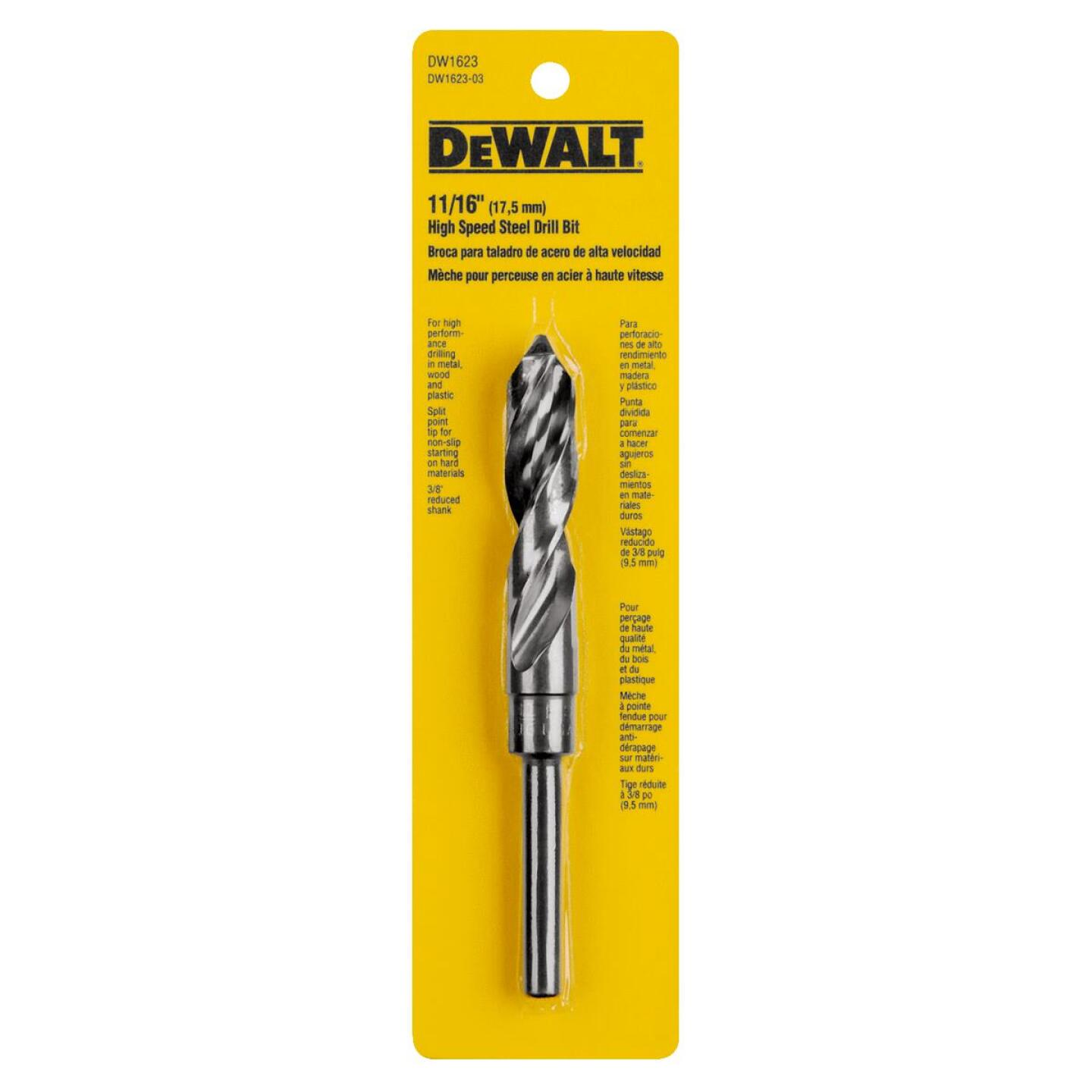 Irwin 11/16 In. Black Oxide Silver & Deming Drill Bit Image 1