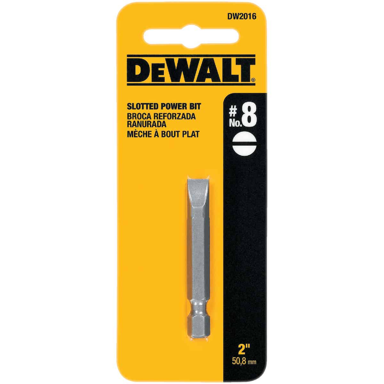 DeWalt Slotted #8 2 In. Power Screwdriver Bit Image 2