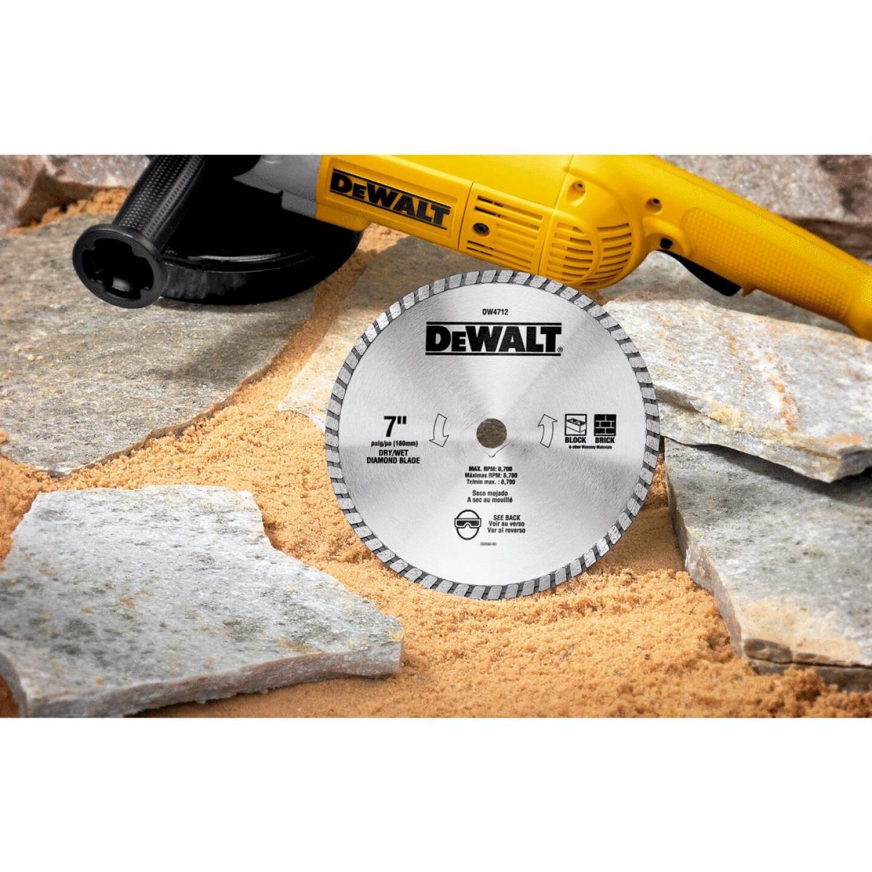 DeWalt High Performance 7 In. Turbo Rim Dry/Wet Cut Diamond Blade, Bulk Image 2