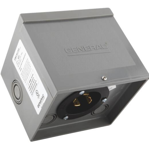 Resin 30A Generator Power Inlet Box