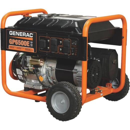 Generac 6500W Gasoline Powered Electric Start Portable Generator