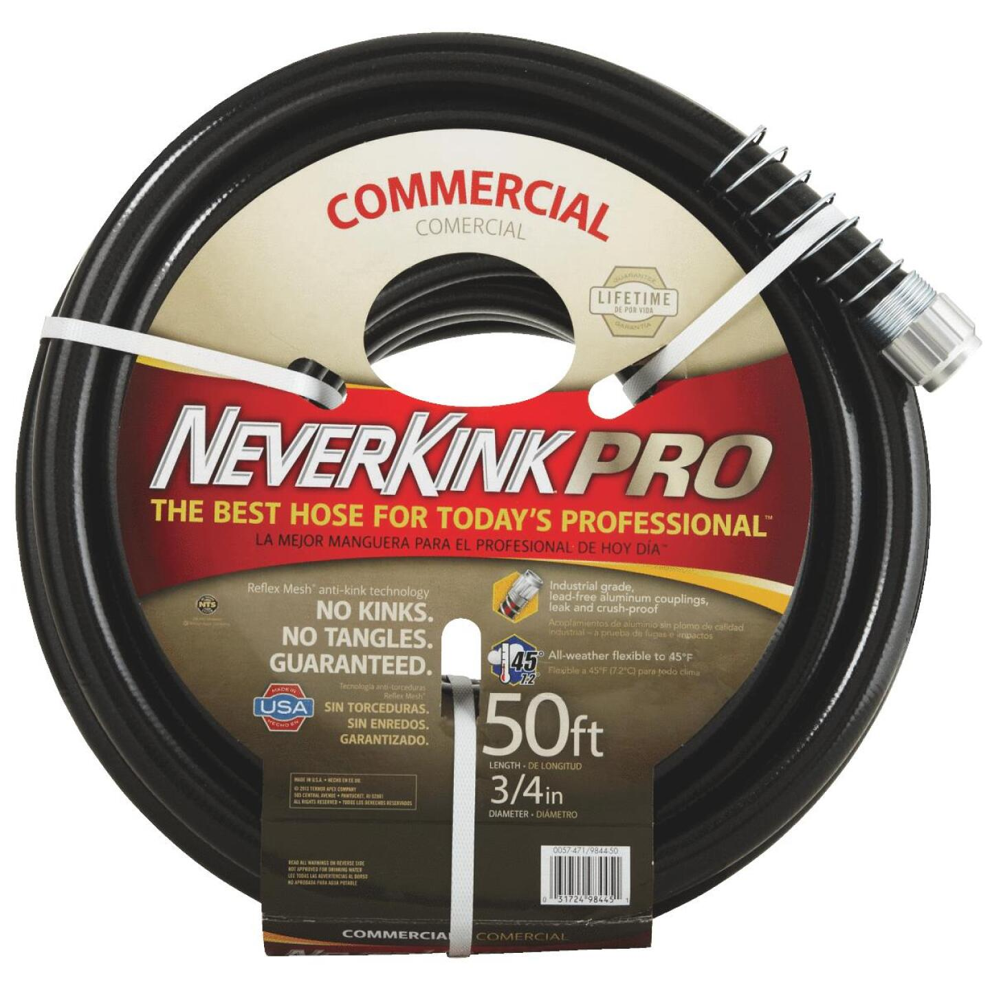 Neverkink Pro 3/4 In. Dia. x 50 Ft. L. Commercial Garden Hose Image 1