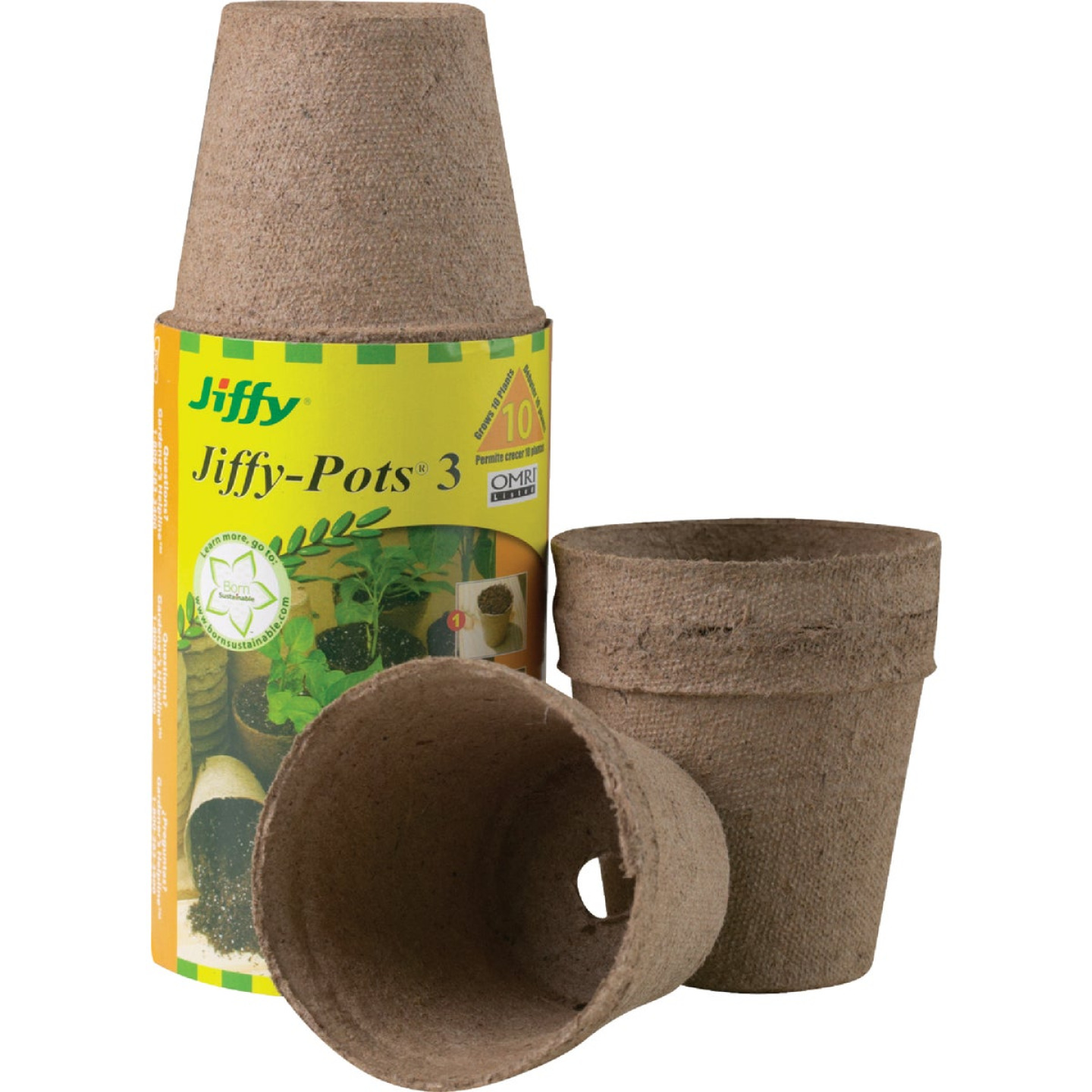 Jiffy 3 In. W. Round Peat Pot (10-Pack) Image 1
