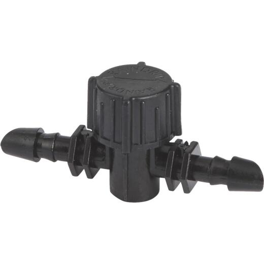 Raindrip 1/4 In. Double-Barbed In-Line Valve (10-Pack)